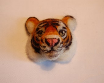 Made to Order: Needle felted tiger badge