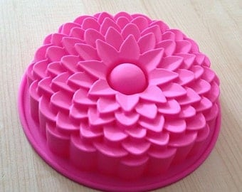 Big Chrysanthemum Mold Cake Mold Mould Soap Mold Silicone Mold Flexible Mold