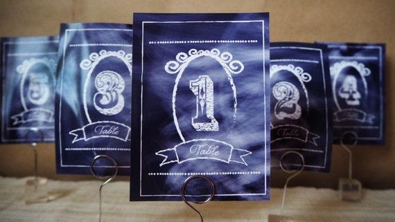WEDDING - Civil Ceremony - CHALKBOARD - Table Numbers - Printable - PDF - Instant Download - Digital Files