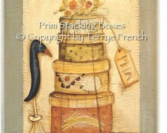 Prim Stacking Boxes - by Terrye French, E-Pattern