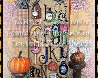 Whimsical Folk Sampler - Painted by Martha Smalley, Painting With Friends E Pattern