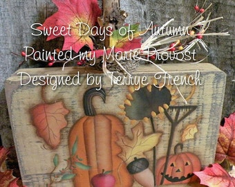 Sweet Days of Autumn  by Marie Provost for Painting with Friends. E-Pattern