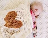 Crochet Baby Heart Blanket, Afghan, Play Mat, Girls, Boys, Gender Neutral, Newborn, Photography Prop, Baby Shower Gift
