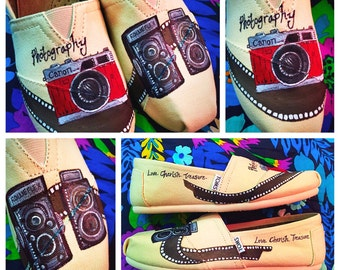 Custom Painted Photography Toms! Designed and personalized just for you