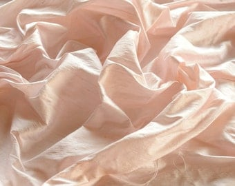 "Blush Pink Dupioni Silk, 100% Silk Fabric, 44"" Wide, By The Yard (S-131)"