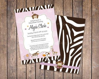Custom Jacana Jungle Baby Shower Invitation