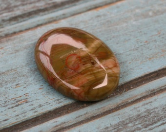 30% OFF SALE - Spiderweb Oval Agate Cabochon