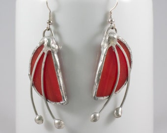 Earrings stained glass Art Deco