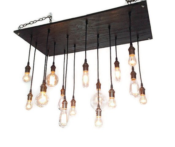 Industrial Tin Chandelier Industrial By Industriallightworks: Rustic Chandelier: Industrial Lighting By IndustrialLightworks