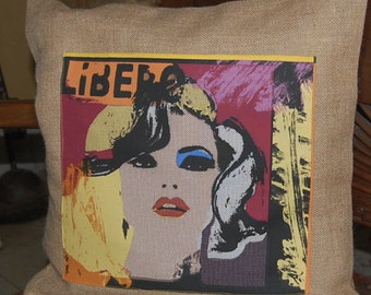 Pop Icon  Pillow Covers (CHOICE) - Handmade - Digital Fabric from UK 18 by 18 inches