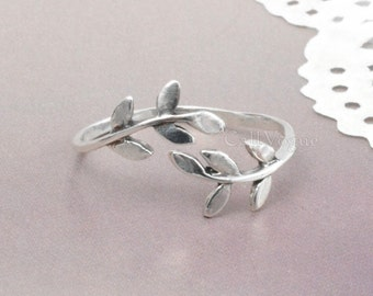 Laurel ring, 925 Sterling Silver Ring, Women Girl Lady Adjustable Knuckle Ring