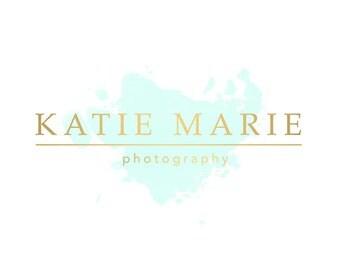 pre made logo design photography watermark watercolor logo. Black Bedroom Furniture Sets. Home Design Ideas