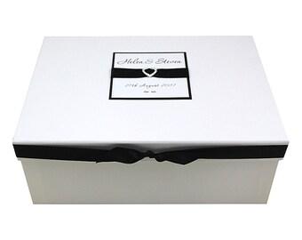 Wedding Keepsake Box - Diamante Heart