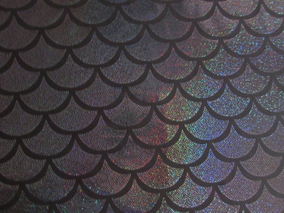 Mermaid scale spandex fabric fish scale by for Fish scale fabric
