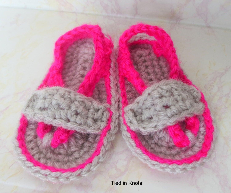 Crochet Baby Flip Flops Baby Girl Flip Flops Baby Boy Flip