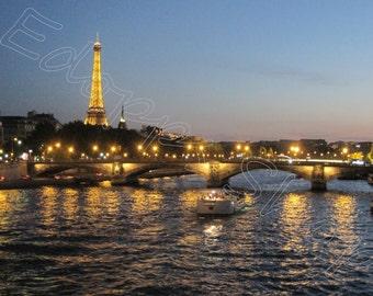 Canvas Print: Paris Night