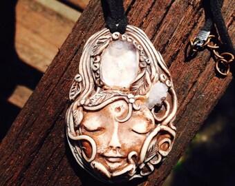 Woodland goddess quartz necklace. OOAK