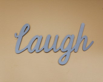 Live, Laugh, Love, Wood Cut out, Wood Monogram, Home Decor