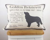 12x18 Golden Retriever Definition Pillow - Dog Lover Gift - Dog Breed Pillow