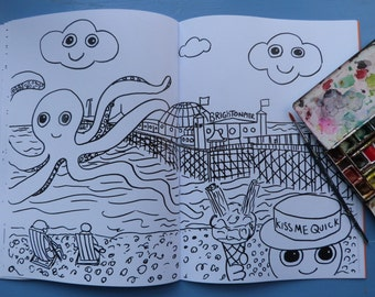 Brighton Colouring in Book. Featuring the Dweeblings