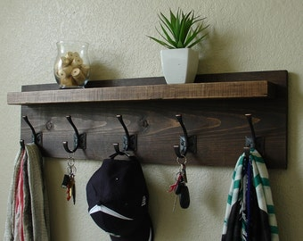 Claremont Coat Rack w/ Floating Shelf