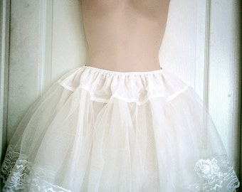 "Handcrafted 16"" 3 or 4 Layers White Lolita Princess Petticoat"