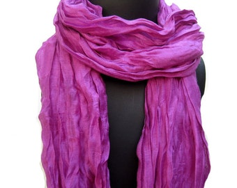 SALE! was 15 USD now...Fashion scarf/ purple scarf/ lace scarf/ cotton scarf/ long scarf / gift ideas.