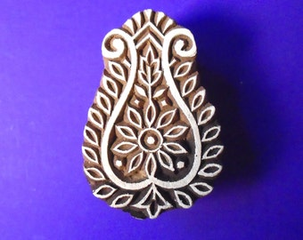 Hand Carved Traditional Indian Print Block Stamp (A70)