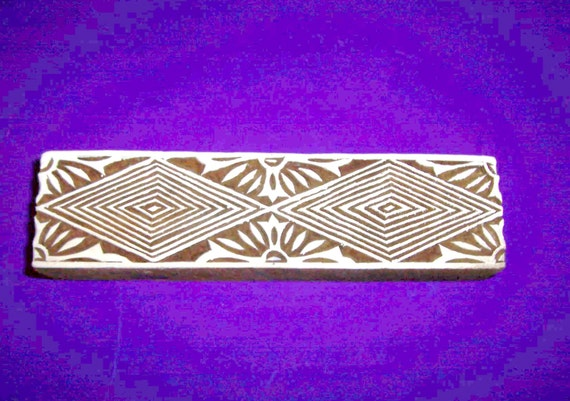 Border geometric wood stamp hand carved indian print block