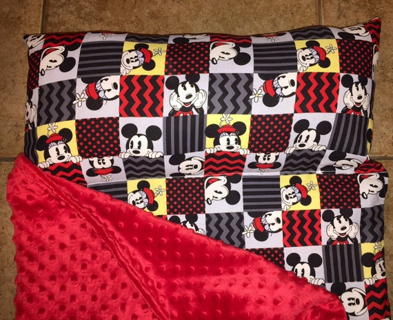 Personalized Preschool Kinder Nap Mat In Disney Mickey Mouse