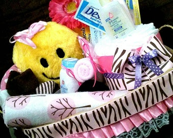 Diaper Basket Gift for baby Boy Girl or Neutral- Great Gift for Welcome the New Baby by Little KG Dreams