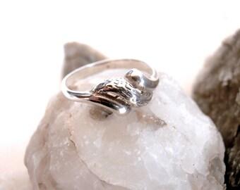 Twist Ring - Sterling Silver - Vintage Jewellery - Silver Rings for Women