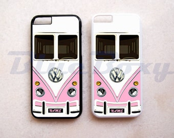Mini Bus Pink iPhone 8, 8 Plus, iPhone X, iPhone 7, 7 Plus, iPhone 6 Case, iPhone 6s, iPhone 6 Plus, 6s Plus, iPhone 5/5s, iPhone 4/4s