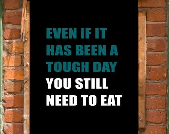 Inspirational Wall Art Digital Print Eating Disorder ED Anorexia Recovery INSTANT DOWNLOAD