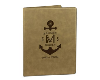 Engraved Leather Portfolio, Leather Portfolio Holder, Leather Portfolio Case, Leather Portfolio Notebook, Graduation Gift [DEC-009]