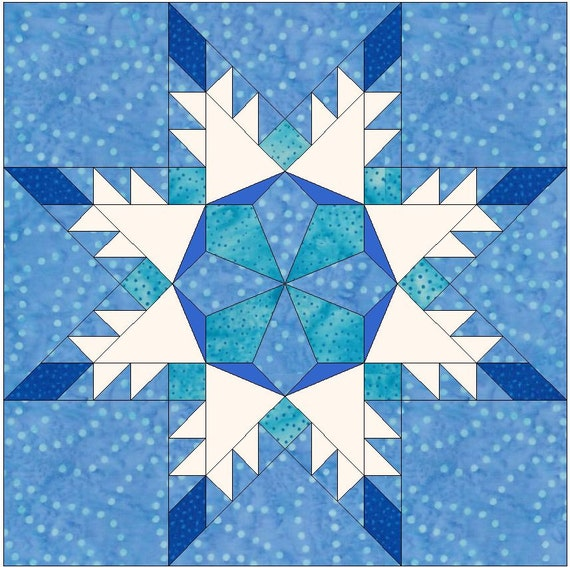 10x10 snowlfake template new calendar template site for Paper star pattern template