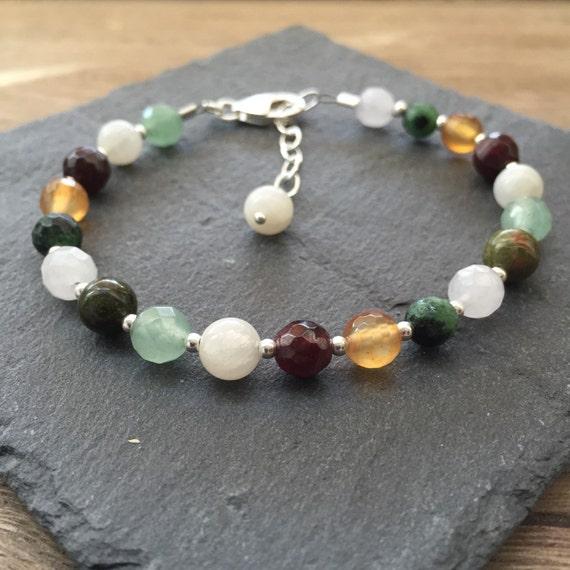 fertility bracelet with gemstones for by daintyrocks