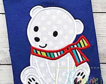 Polar Bear Applique Machine Embroidery Design 4 sizes, polar bear applique, polar bear embroidery, bear applique, bear embroidery