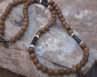 mens necklace women's necklace picture jasper stone beads black stone jewelry black & white bone beaded necklace tribal bohemian necklace
