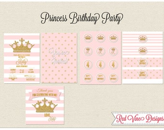 Princess Crown Party Printables