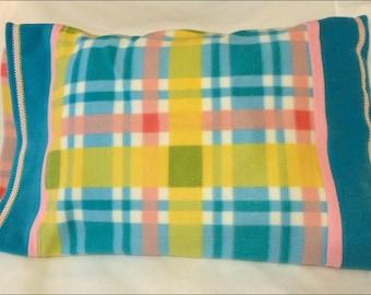Pastel Plaid Fleece Pillowcase