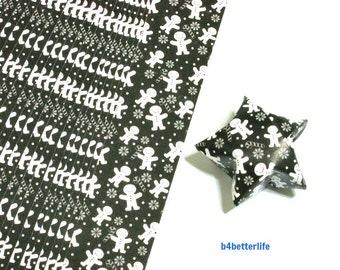 "120 Strips of Black Color DIY Origami Paper Folding Kit For Folding The Big Lucky Stars. 34cm x 1.8cm. ""Welcome"" (KZ paper). #SPK-154."
