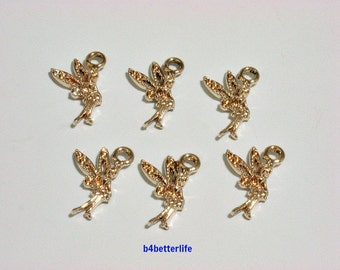 """Lot of 24pcs """"Angel"""" Gold Color Plated Metal Charms. #XX204z."""