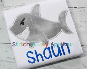 Angry Shark Machine Applique Design