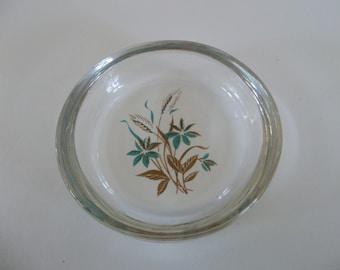 Vintage 1970's Small Decorative Glass Ashtray