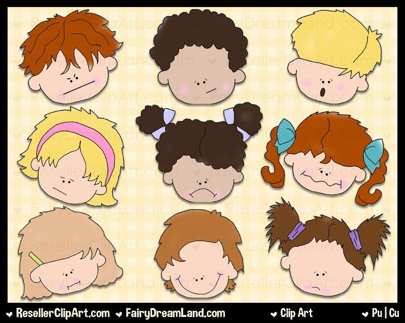 Emotion Faces Clip Art Commercial Use Digital Image Png