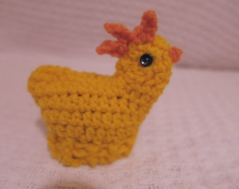 Crochet chocolate egg holder chick - perfect for Easter