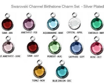 ADD A Swarovski Element Channel Crystals - Birthstone.