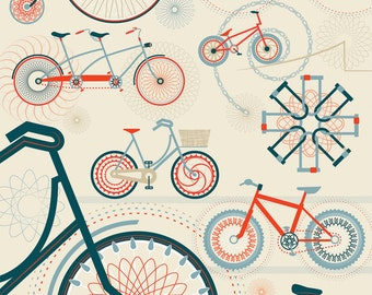 Large 'Spirocycle' Cycling limited edition giclée print