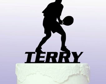 Personalised Tennis Cake Topper